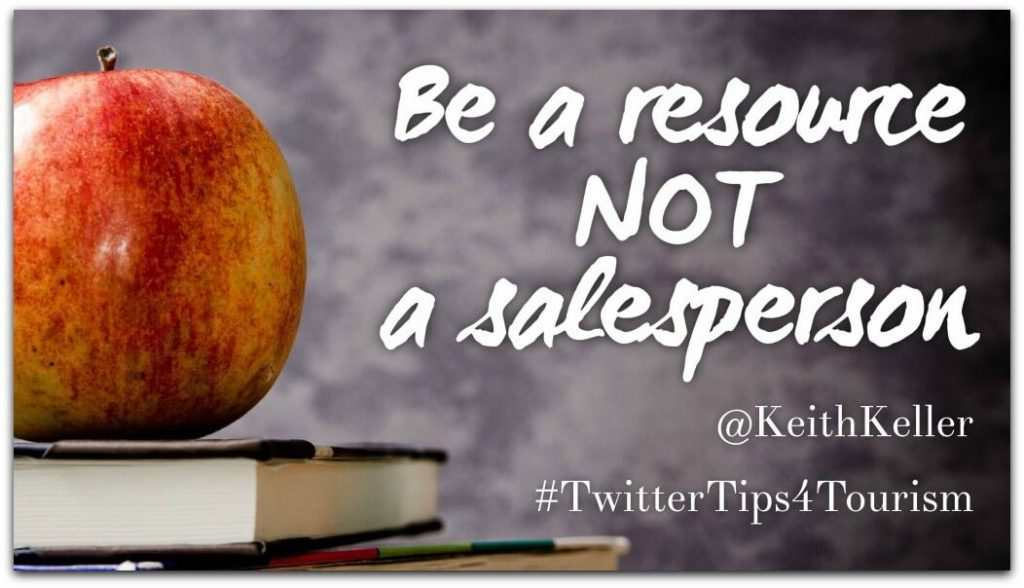 Be The Resource Not The Salesperson