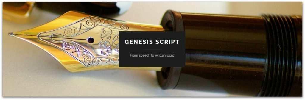 GENESIS SCRIPT